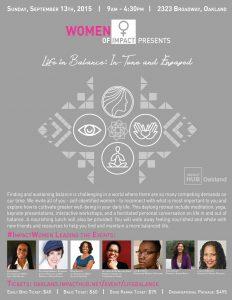 Women of Impact Life in Balance daylong